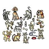 Sizzix Doodlebug SIZ661594 THoltz Framelits Die Mini Cats & Dogs Crazy