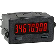 Red Lion CUB7T Low Voltage Miniature Electronic Timer Controller, 8 Digit LCD Display, Low Voltage Only, 28 VDC Input Voltage