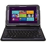 IVSO Toshiba Encore WT8-A32/A64 Bluetooth Keyboard Portfolio Case- DETACHABLE Bluetooth Keyboard Stand Case / Cover for Toshiba Encore WT8-A32/A64 Tablet (Black)