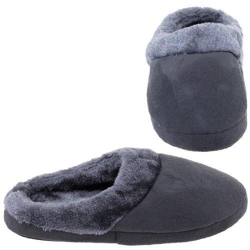 Cheap Harve Benard Gray Clog Slippers for Women (B005Y4SATK)