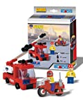 BEST LOCK FDNY TRUCK & CYCLE W/ 2 FIGURES