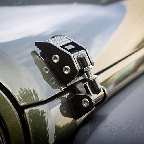 FUWAY 1 Paar Jeep Hauben-Verschluss Anti-Diebstahl-Hood Latch Fangen Set für 16.07 Jeep Wrangler JK