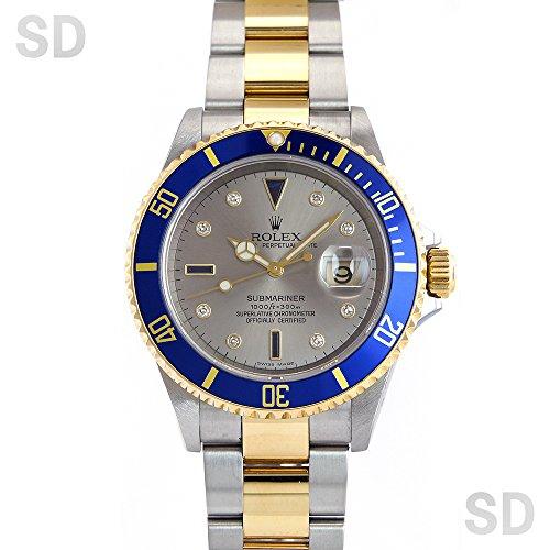 [ロレックス]ROLEX腕時計 サブマリーナー グレー/ダイヤ/サファイヤ Ref:16613SG メンズ [中古] [並行輸入品]