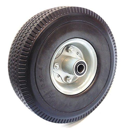 RK Heavy Duty Solid Rubber Flat Free Tubeless Hand Truck/Utility Tire Wheels, 4.10/3.50-4