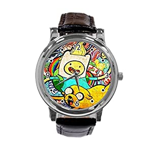 Adventure Time Jake and Finn54-Adventure Time Jake and Finn Unique Diy Custom Photo Design Round Wrist Women Watch -S61