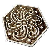 Wooden Textile Fabric Block Stamp Spiral Print Decorative Fabric Handmade Apparel Art