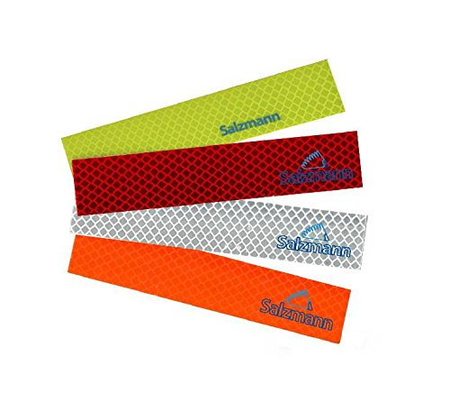 Salzmann Waterproof Diamond Grade 3M Scotchlite reflective stickers. Car Auto Safety Reflective Stickers, Work for Motorcycle, bicycle, Sled and other safety needs. All-weather Outdoor Reflective tape, Yellow, 4 PCS (3m Yellow Tape Automotive compare prices)