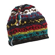 FU-R Headwear - Mayadevi, Hand Knit, Wool Blend, Fleece Lined Earflap Hat