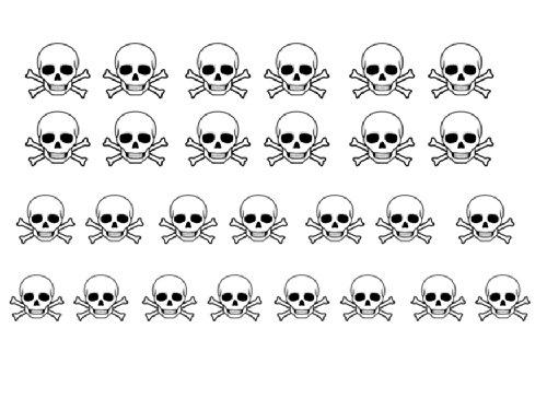 Facile a utiliser d'art d'ongle transfert autocollants Skull / Crane