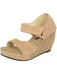 Belly Ballot Women's Velvet Wedges (3515)