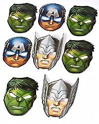 Marvel Avengers Hats/ Masks, 8 Count, Party Supplies (Bundle Of 3)