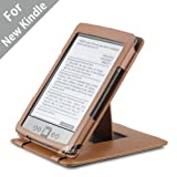 Acase Genuine Leather Flip Case for Classic Kindle (Latest Generation 2011) with Multiple Position Stand (Brown)