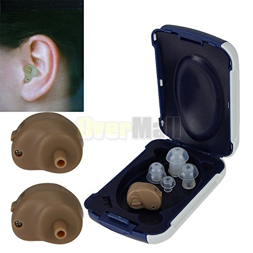 2 x Small In Ear Invisible Best Sound Amplifier Adjustable Tone Hearing...