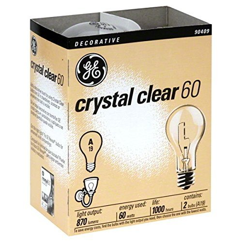 (Ship from USA) 24- NEW GE 97490-24 60-Watt Crystal Clear Incandescent A19 Light Bulbs /ITEM NO#E8FH4F854135615 (Incandescent Light Bulbs 60w compare prices)