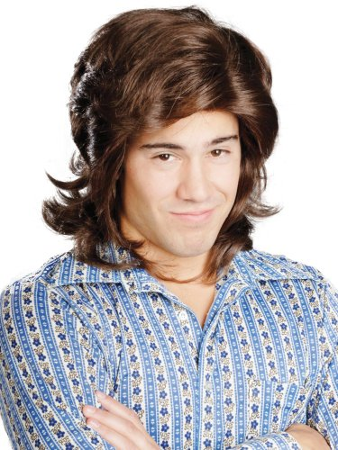 [Enigma Wigs Men's 70's Boy, Brown, One Size] (70s Punk Costumes)