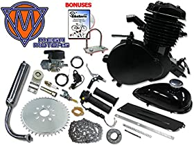 Mega Motors 66/80cc Black Angle Fire Bicycle Engine Kit - 2 Stroke