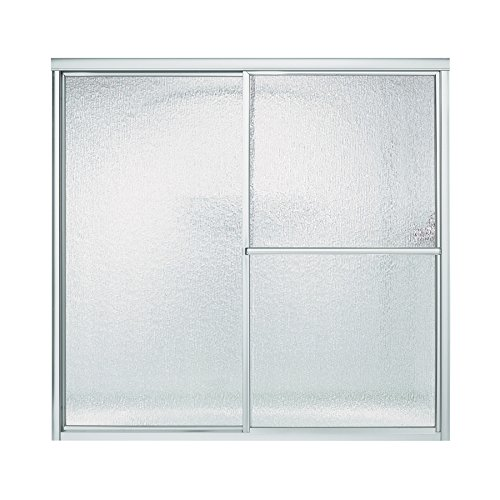 Sterling 5906-59S Deluxe By-Pass Bath Door, Silver with Rain Texture Glass (Sterling Shower Doors compare prices)