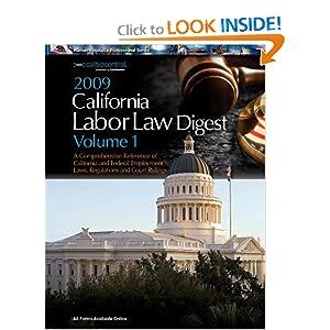 2009 California Labor Law Digest Two Volume Set CalChamber, Jessica Hawthorne, Andrea LaMattina and Mike McCluskey