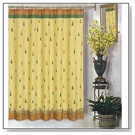 Winters Break Christmas Tress Holiday Fabric Shower Curtain