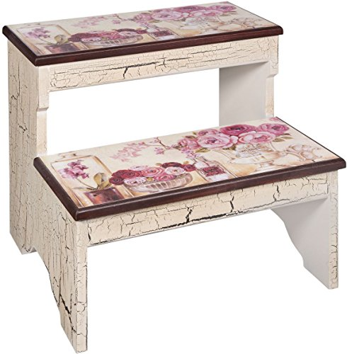 Peachy Shabby Chic Roses Crackled Finish 2 Step Decorative Wood Theyellowbook Wood Chair Design Ideas Theyellowbookinfo