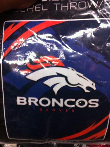 Denver Broncos Nfl Team Rare Queen Blanket Throw front-157299