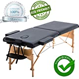 """New Black 84"""" Portable Massage Table w/Free Carry Case T1 Chair Bed Spa Facial"""