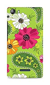 Amez designer printed 3d premium high quality back case cover for Micromax Canvas 5 (E481) (Abstract2)