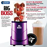 Big Boss 8867 4-Piece Personal Countertop Blender Mixing System, 300-watt, Purple