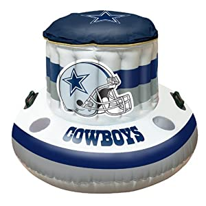 Dallas Cowboys Nfl Beach Pool Inflaitable Floating Cooler 49x20 Sports Fan