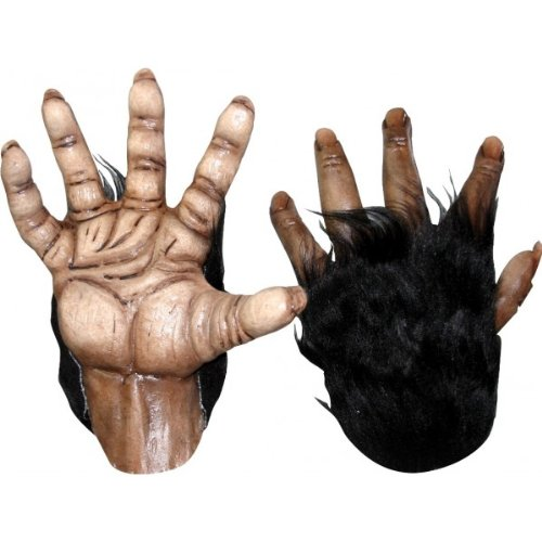 [Brown Chimp Hands Costume Gloves] (Chimp Hands Costume)