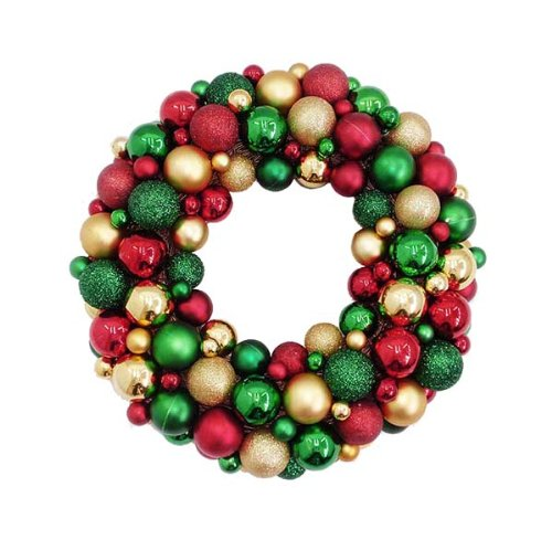 Pre made christmas ball ornament wreaths