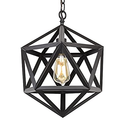 "Trenton 16"" Industrial Black Wrought Iron Metal Chandelier - CC2131155-BK"