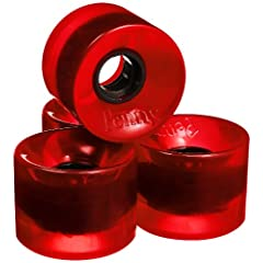 Buy Penny 4-Set Translucent Skateboard Wheels, Red, 59mm by Penny