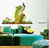 StickersKart Wall Stickers Colorful Decorative Peacock Bird (Multi-Colour, 15...-209