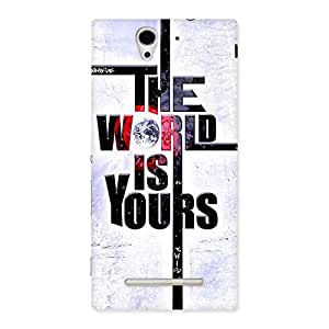 Ajay Enterprises Your World Back Case Cover for Sony Xperia C3
