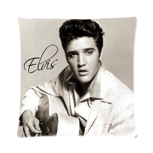 Butuku Elvis Presley Greatest Rocker And Singer The King Signature Custom Personalized Zippered Square Pillow Case 16X16 (One Side) front-688066