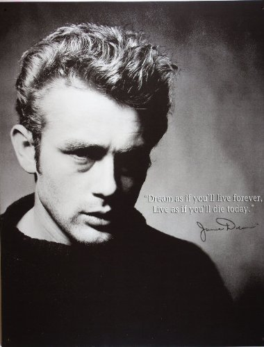 James Dean Live Forever Movie Retro Vintage Tin Sign - 13x16