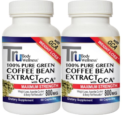 Tru Body Wellness Green Coffee With Gca, 800 Mg, 60 Count- 2 Pack