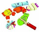 Santoys - Wooden Toys - Food & Shop Role Play - Cut-through Sea Animals