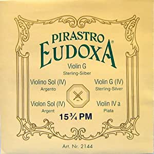 PIRASTRO EUDOXA オイドクサ 4/4バイオリン弦G線 ガット/シルバー巻 Nr.2144