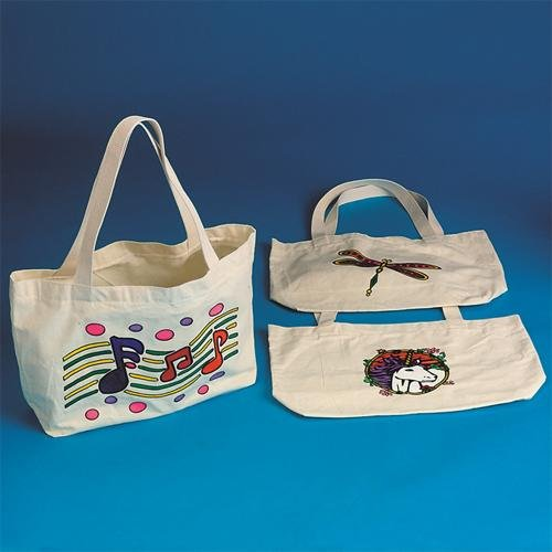 Color-Me Velvet Art Tote Bags (Pack of 12)