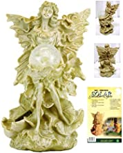 Beautiful Garden Decorative Fairy With White LED Glass Crackle Ball Solar Light For Yard Stake