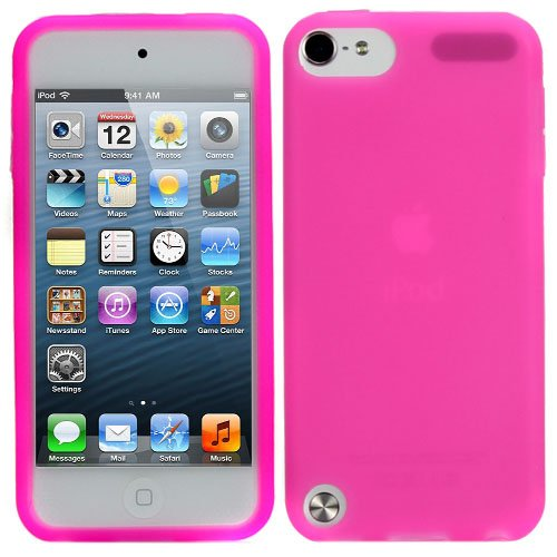 Evecase Ipod Touch 5 Case, Silicone Skin Soft Cover Case For Apple Ipod Touch 5 5G 5Th Generation (2012 Version) (Hot Pink)