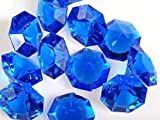 Royal Blue 25 Carat Acrylic Diamonds - 36 Acrylic Gems - Big Bling