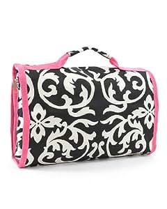Damask Hot Pink Cosmetics Bag Case Large