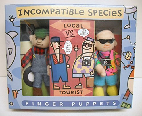 Incompatible Species Local Vs. Tourist Finger Puppets - 1