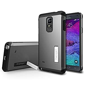 Galaxy Note 4 Case, Spigen Tough Armor Case for Note 4 - Retail Packaging - Gunmetal (SGP11139)