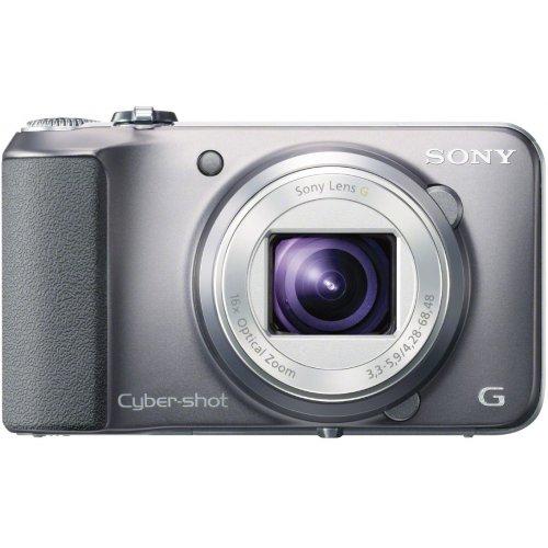 Sony DSC-H90S Cyber-shot Digitalkamera (16,1 Megapixel, 16-fach opt. Zoom, 7,5 cm (3 Zoll) Display, Schwenkpanorama) silber