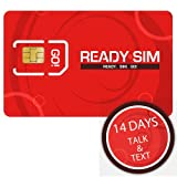 Ready SIM Talk+Text 14 Day: Unlimited Talk+Text Voice Mail Caller ID - For Use in The USA Only