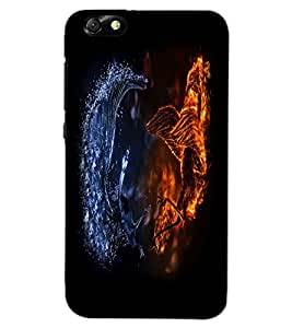 HUAWEI HONOR 4X DRAGON Back Cover by PRINTSWAG